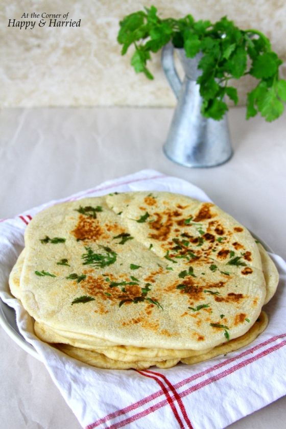 Homemade Greek Flatbreads With Dill & Cilantro
