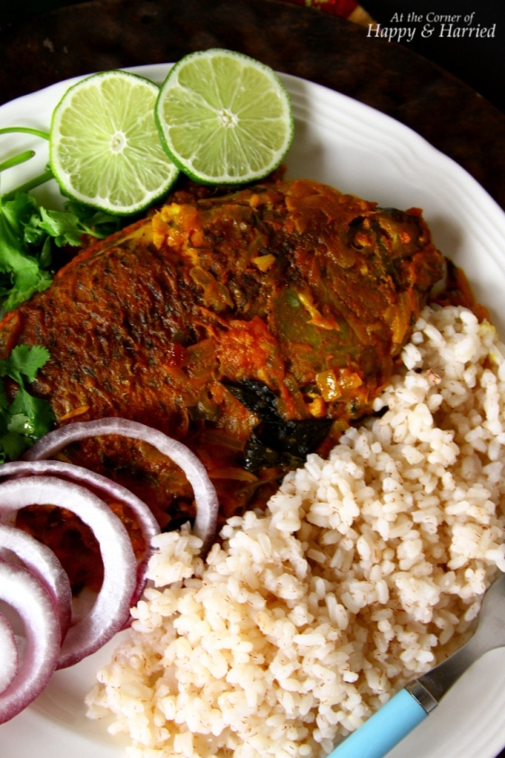 Meen Pollichathu {Fish Baked With Indian Masala}