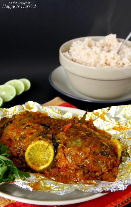 Meen pollichathu baked fish with indian spices at the for Baked fish seasoning