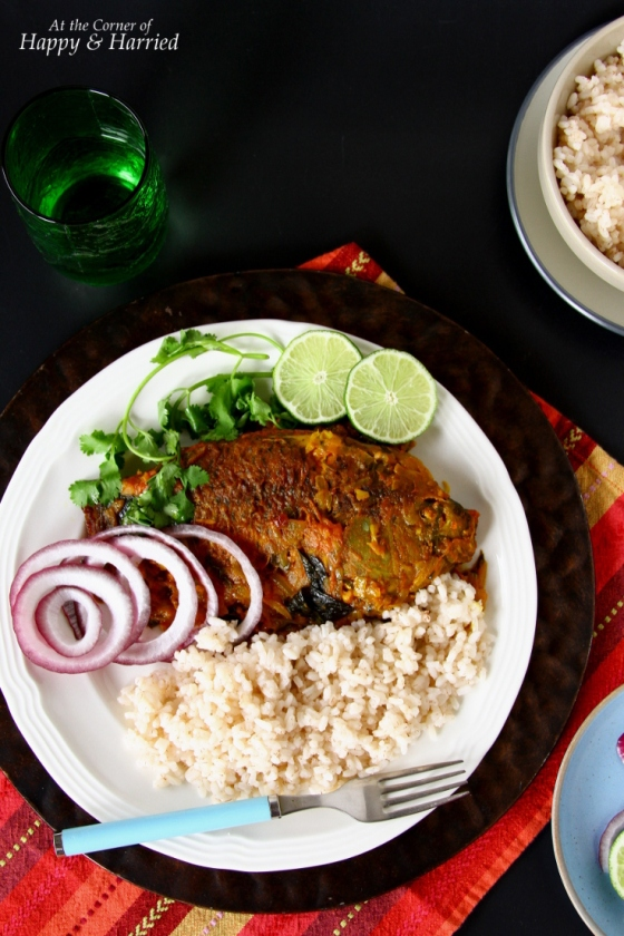 Meen  Pollichathu or Baked Masala Fish Parcels With Red Rice