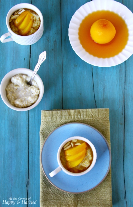 Millet Milk Pudding {With Poached Peaches}