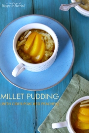 Millet Pudding & Poached Peaches
