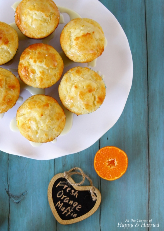Orange Muffins With Orange Sugar Glaze