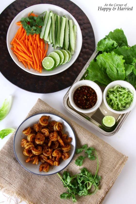 Shrimp And Vegetables For Lettuce Wraps