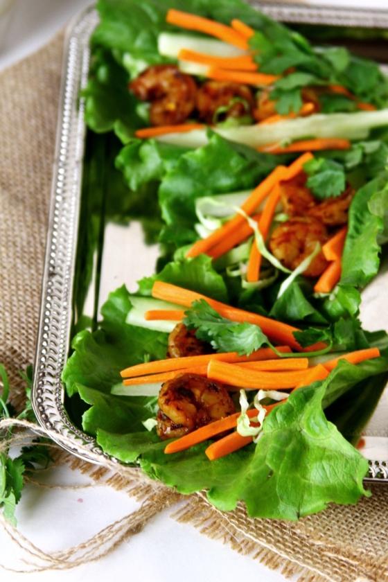Shrimp or Prawn Lettuce Wraps