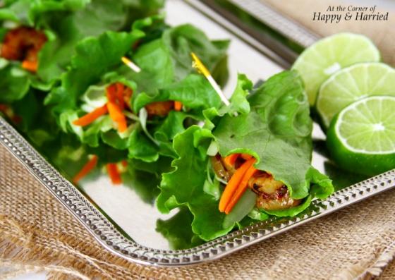 Spicy & Fresh Shrimp Lettuce Wraps