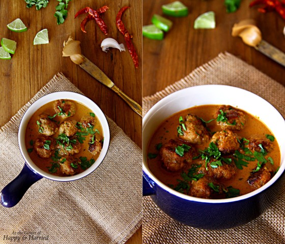 Thai Chicken Meatballs Curry