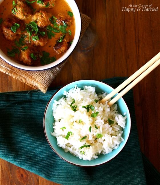 Thai Chicken Meatballs & Jasmine Rice