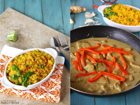 Thai Green Chicken Curry (Served With Spicy Couscous Vegetable Pulao)