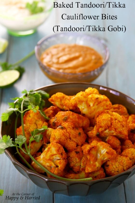 Baked Tandoori or Tikka Cauliflower Bites (Tandoori or Tikka Gobi)