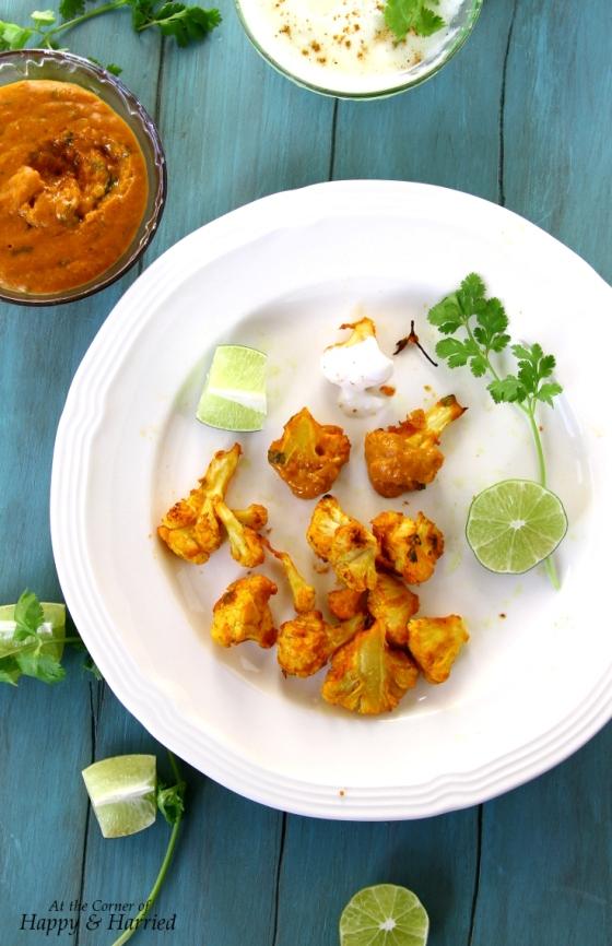 Healthy Gobi Tikka or Tandoor (Baked Cauliflower Florets In Tikka Masala)