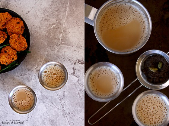 Vada And Elaichi Chai {Spicy Lentil Fritters And Cardamom Tea