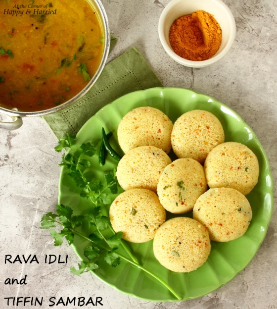 RAVA IDLI and TIFFIN SAMBAR