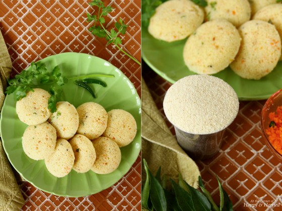 Rava Idli With Rava or Sooji or Semolina