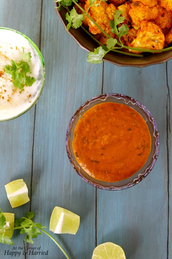 Baked Tandoori/Tikka Cauliflower Bites With A Spicy Yogurt Dip