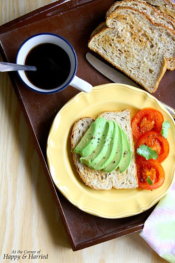 Avocado & Charred Tomatoes On Bread