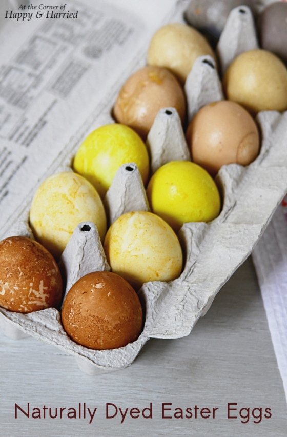 Naturally Dyed Easter Eggs | At the Corner of Happy and Harried