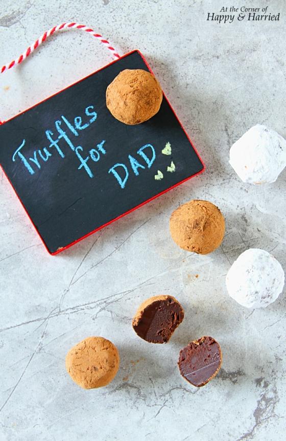 Father's Day Dark Chocolate Truffles
